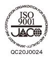 品質マネジメントシステム(ISO9001:2015)認証番号: QC20J0024